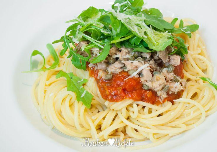 Budget koken: spaghetti met tonijnsaus - Keuken♥Liefde