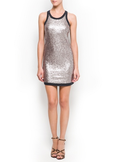 New Years -Sequined cotton dress from Mango