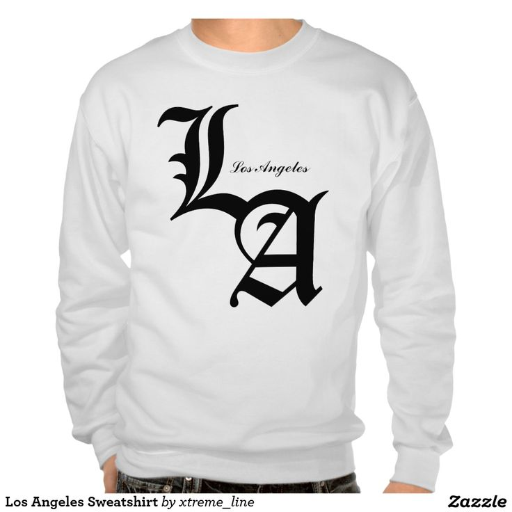 Los Angeles Sweatshirt. California Clothing. #California #Clothing #Zazzle