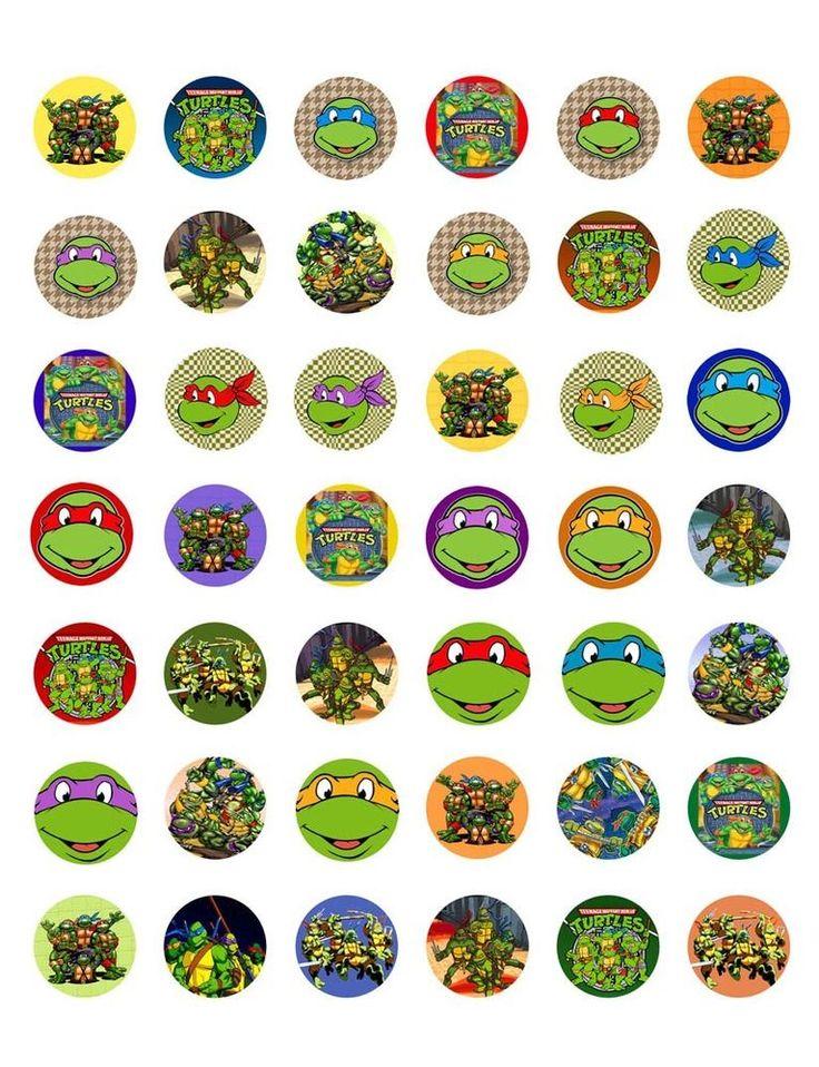 картинки черепашек ниндзя на капкейки