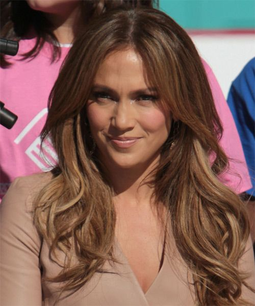 Jennifer Lopez Long Straight Casual Hairstyle Chestnut Jennifer Lopez Hairstyles Jennifer