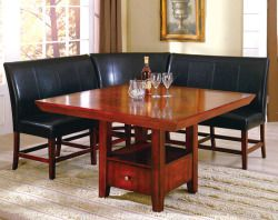 4 Piece Corner Wood Dining Table