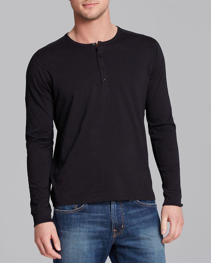 Vince Favorite Jersey Long Sleeve Henley | Bloomingdale's