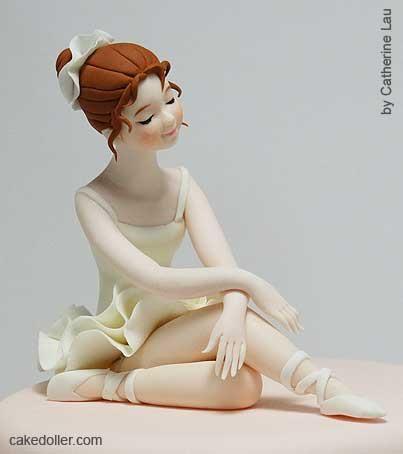 Porcelana fria - Cold porcelain - Ballerina Cake Topper