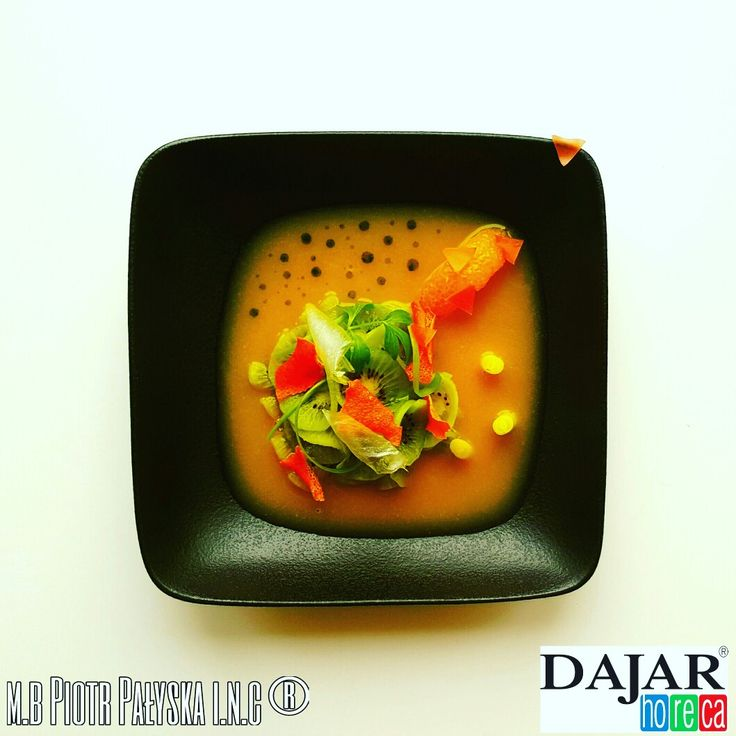 PLATE 6 Orange Soup made by Piotr Pałyska #plate #abstract #expressionism #gastronomy