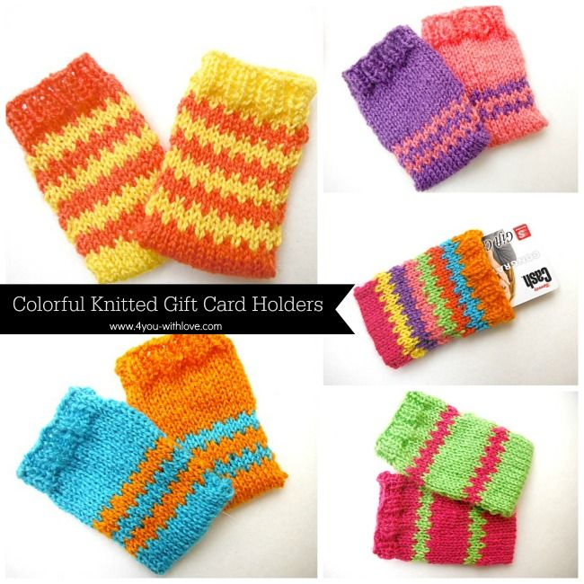 gift card holders knitting pattern | Knitting | Pinterest ...