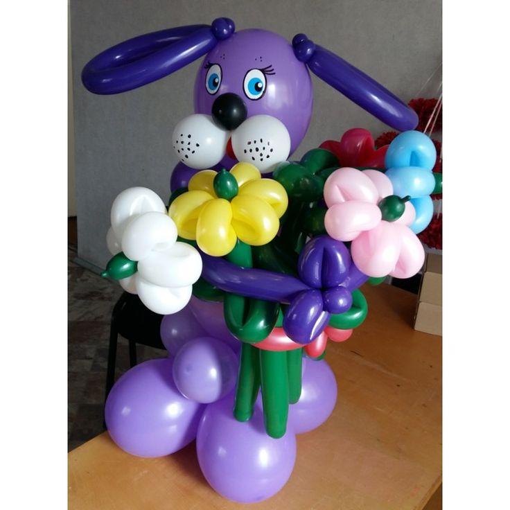 Собака собачка из шаров воздушных шаров шариков недорого фигуры из шаров оформление воздушными шарами воздушные-шарики.укр