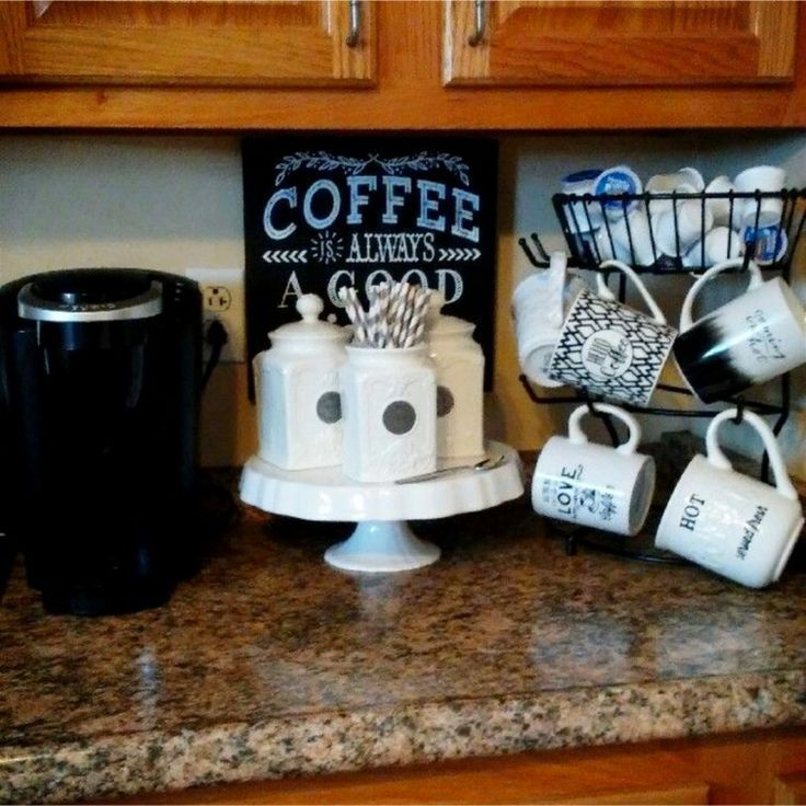 342 best coffee bar ideas diy home coffee bars images on for Countertop coffee bar ideas