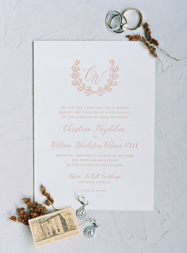 custom wedding invitations nashville%0A Atlanta Wedding   Sarah Ingram   Simple Wedding Stationery   Fine Art  Wedding   Organic Wedding