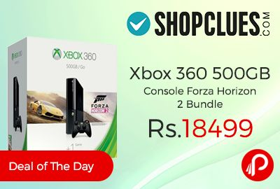 Shopclues #DealofTheDay is offering 26% off on #Xbox360 #500GB #Console Forza Horizon 2 Bundle at Just Rs.18499. With the largest library of games and apps Xbox 360 has something for everyone, Play blockbusters like Halo, Forza Motorsport, and Minecraft, and explore a massive catalogue of games with fantastic variety and value. Your favourite entertainment apps are on Xbox 360 ...  http://www.paisebachaoindia.com/xbox-360-500gb-console-forza-horizon-2-bundle-just-rs-18499-shopclues/