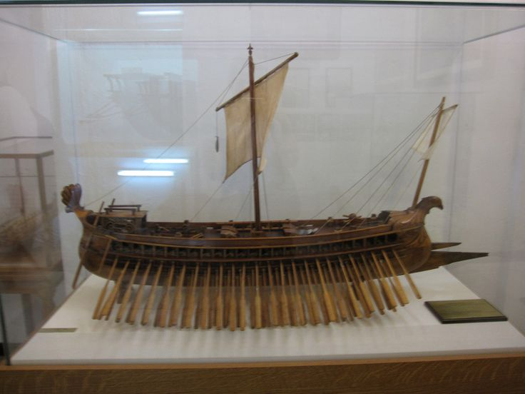 Model of #Athenian trireme in #Naval museum #Chania