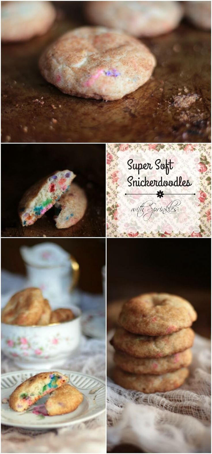 Best chewy, soft Snickerdoodle recipe ever! Sweet buttery goodness with tons of cinnamon flavor... plus sprinkles! From restlesschipotle.com