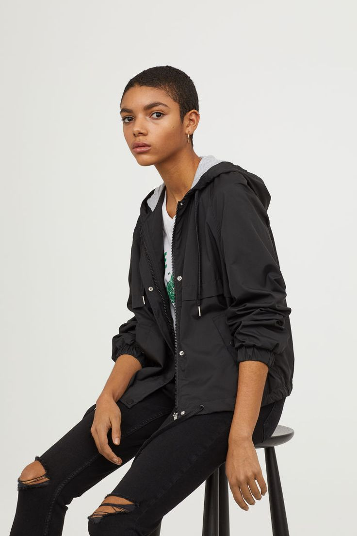 Hooded jacket - Black - Ladies | H&M 1