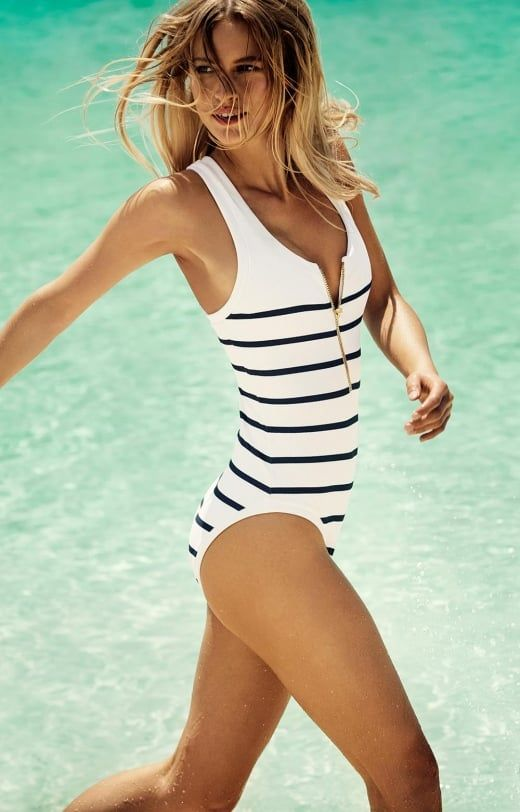heidi klein Nantucket Binding Racer Back One Piece
