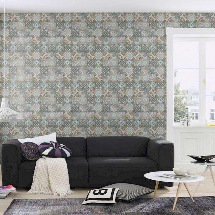 Colección: New Concept 2018. Fabricante: Decoas. Producto: Papel vinílico. Papel pintado azulejos vintage multicolor. Soporte: Tejido no-tejido.