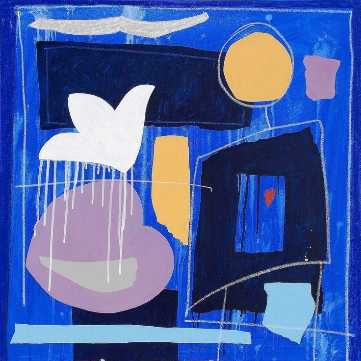 """andrea mattiello """"Rinascere l'amore"""", acrilico e pastello su tela cm 70x70; 2016 #andreamattiello #mattielloandrea #artist #emergingartist #artistaemergente #contemporaryart #collage"""