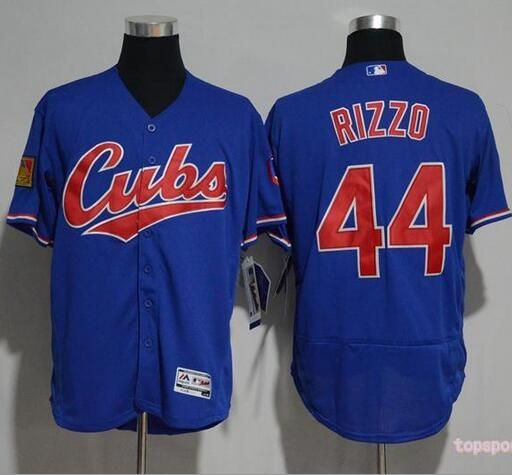 MLB Chicago Cubs 44 Anthony Rizzo Cubs Blue Flexbase Baseball Jersey