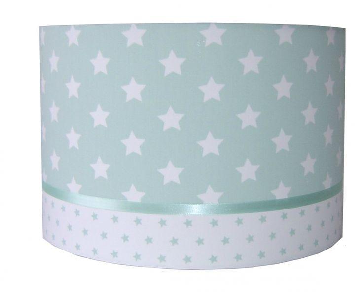 Lamp babykamer mintgroen met sterren