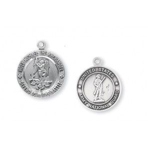 Army National Guard Saint Michael Sterling Silver Round Medal