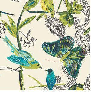 Boho Baby Crib Sheet Butterfly Crib Bedding, Bohemian Baby Girl, Butterfly, Birds, Paisley, Nursery Ideas, Teal Nursery, Nature Nursery, Botanical Nursery by PreciousandPink
