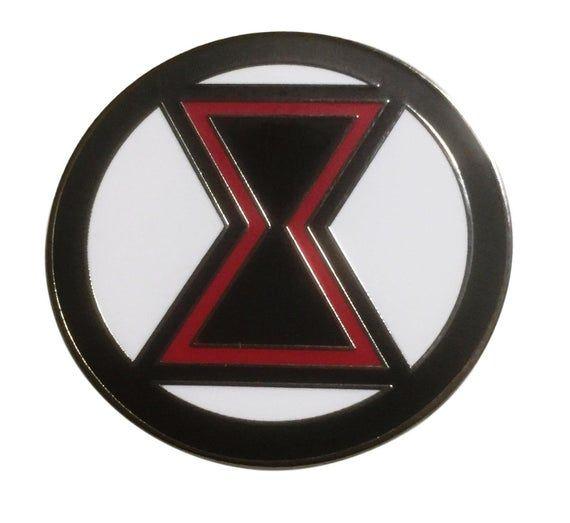Black Widow Superhero Logo 1 Inch Tall Metal Pin Etsy In 2021 Black Widow Avengers Black Widow Superhero Black Widow Aesthetic