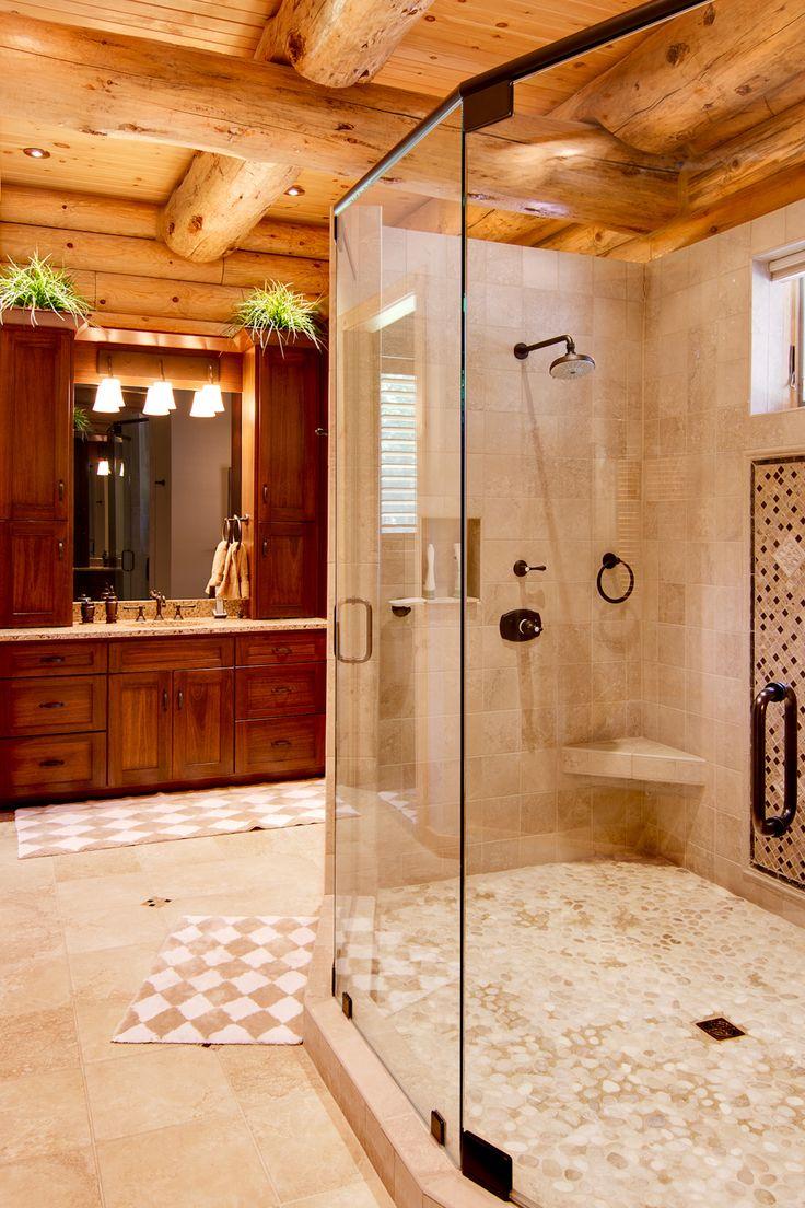 best log home bathrooms ideas on pinterest log home interior photos