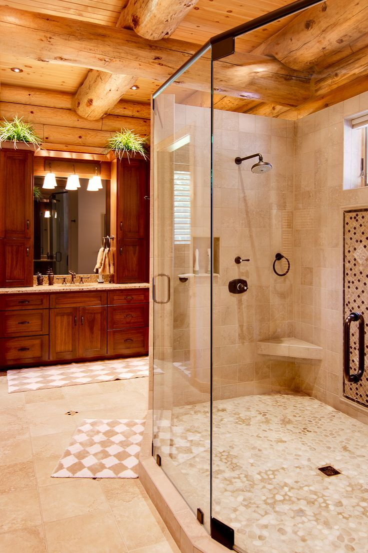 Cabin inside bathroom - 17 Best Ideas About Log Cabin Bathrooms On Pinterest Cabin Bathrooms Log Cabin Plans And Log Cabin Bedrooms