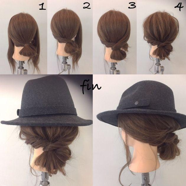 Niedriges Brötchen zum Tragen von Hüten #Brot #Huten #Low # Wear – Frisuren