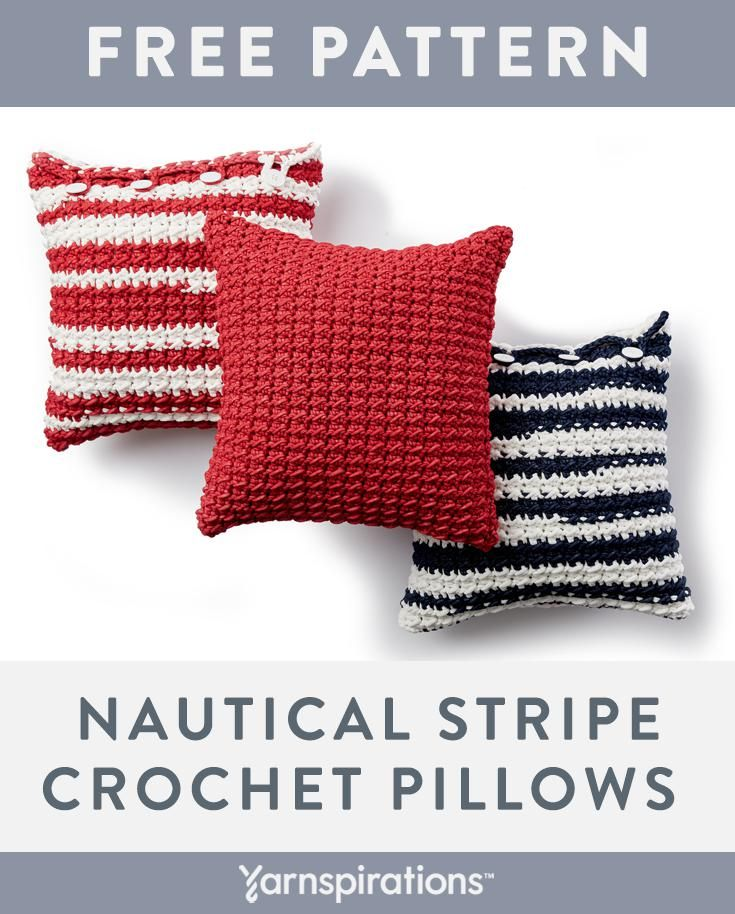 Free Crochet Pillow Pattern | Made with Bernat Maker Outdoor Yarn