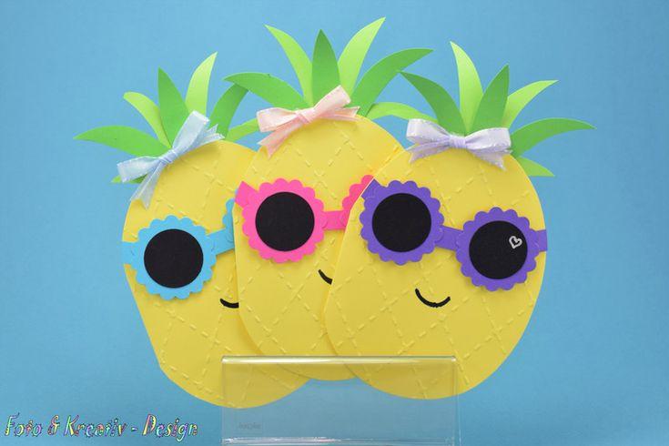 Einladungskarten – Ananas, Beach Party / Schwimmba…
