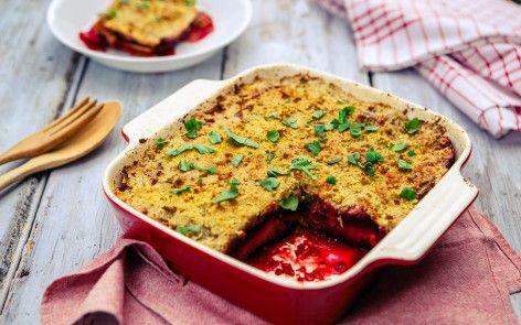 #vegansk regnbue #lasagne med #glutenfri #konjac