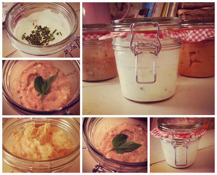 Homemade Dips: Garlic & Herb, Houmous and Tomato & Basil Mayo