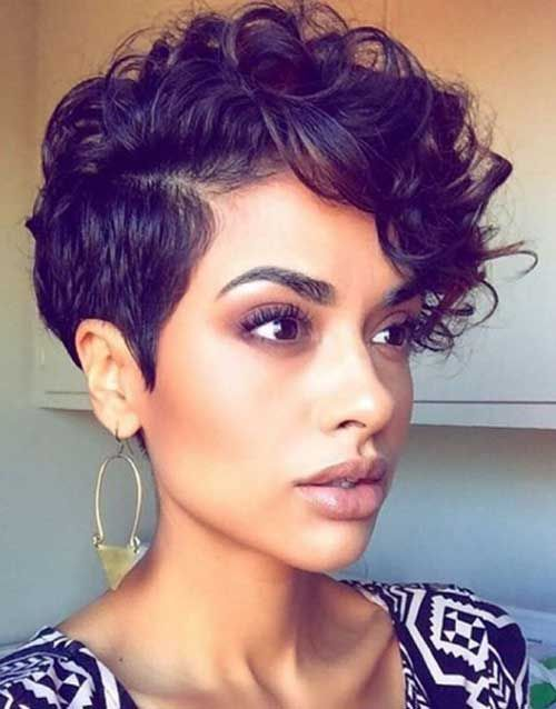 Image result for black hair pixie cut with long front
