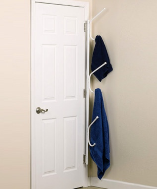 What a good space saving idea - only if my bathroom door was in a corner!