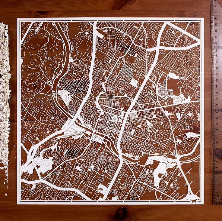 San Francisco Map Paper%0A Paper cut map Austin        In  Paper Art IDEAL GIFTS by o designstudio  on