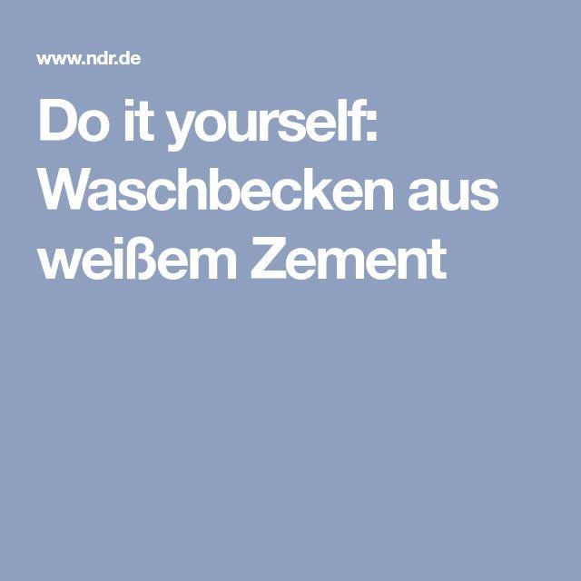Do it yourself: Waschbecken aus weißem Zement – josef