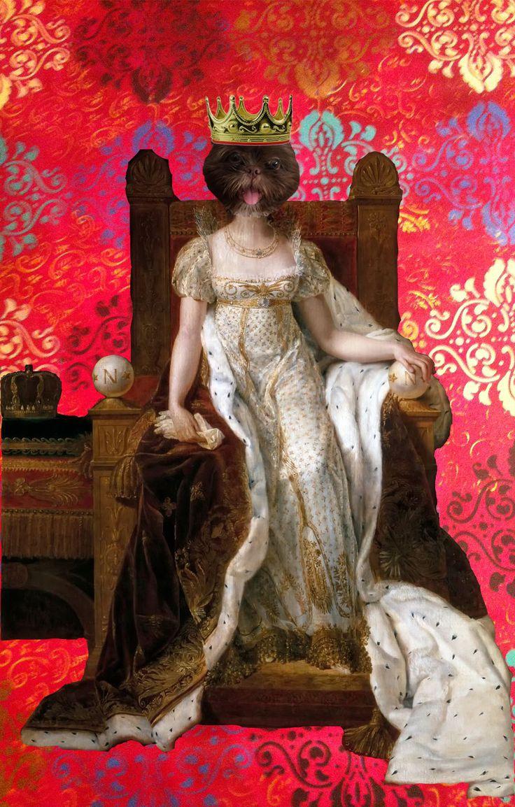 Acrylic painting by Melina Ollandezos -  Jojo by Josephine Imperatriz da França