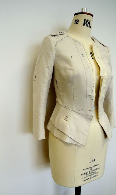 Inspiration for me to use when I'm exploring flat pattern drafting. - The first toile
