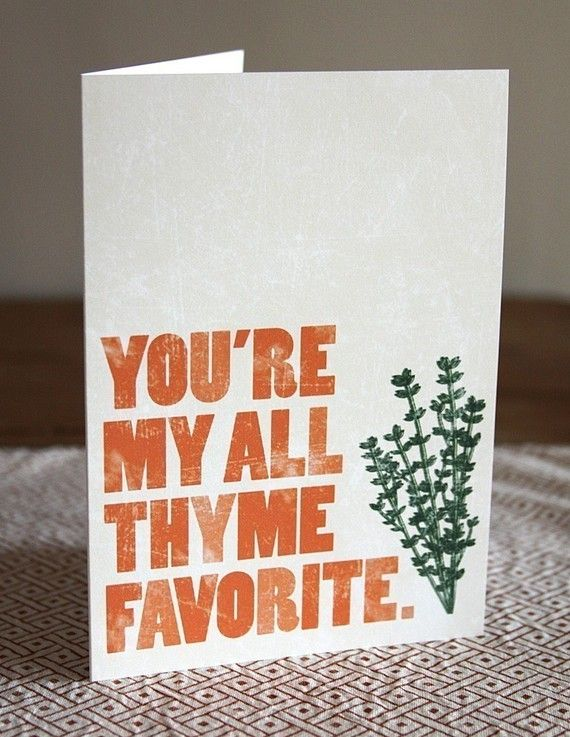 You're my all thyme favorite // Greeting Card by DapperPaper, $4.50