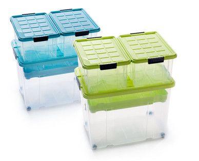 EASYHOME Maxi-Stapelboxen-Set, 4-teilig