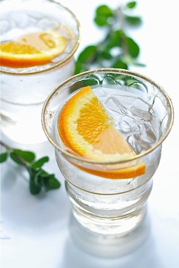 Savor Home:  Vanilla - Orange Vodka Tonic.  Here's a link to make the vanilla sugar called for in this drink...  http://www.foodnetwork.com/recipes/alton-brown/vanilla-sugar-recipe/index.htm