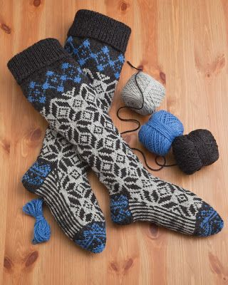 Woolen Collectibles - Kalispell, MT - Fair Isle Stockings - Pattern  60 Quick Knits from America's Yarn Shops