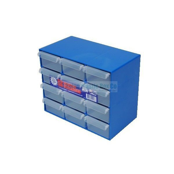 12 Drawer Organiser for more information go to plasticboxco.net.au