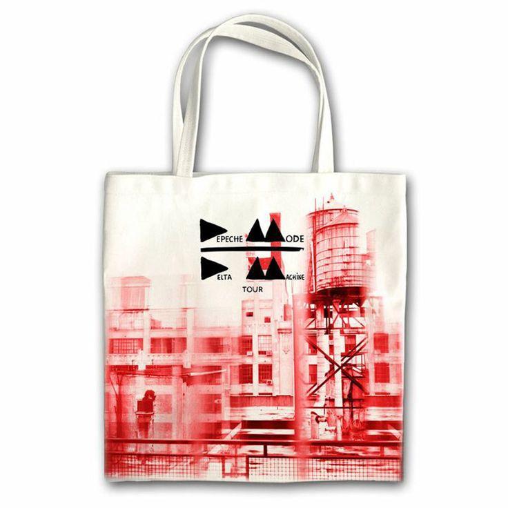 """Desain tote bag yang menggunakan desain sampul album """"Delta Machine' dari Depeche Mode"""
