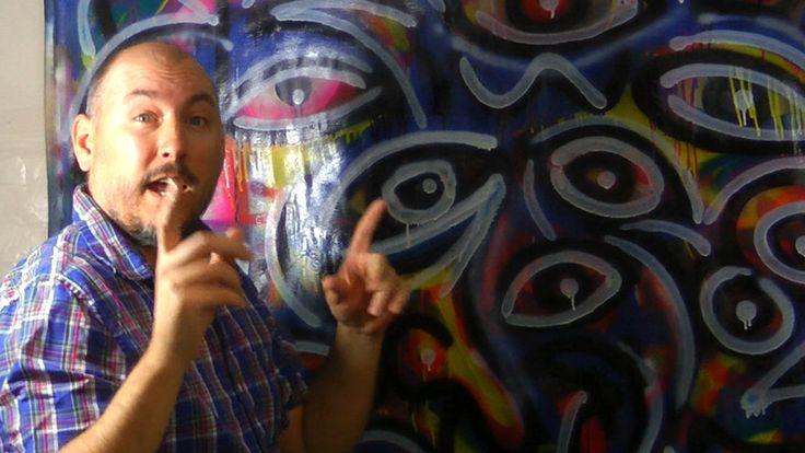 RAEART painting LIVE time lapse ART ROCK BOTTOM