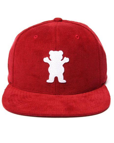 Grizzly Griptape - Corduroy OG Bear Snapback Cap #snapback #snapbax