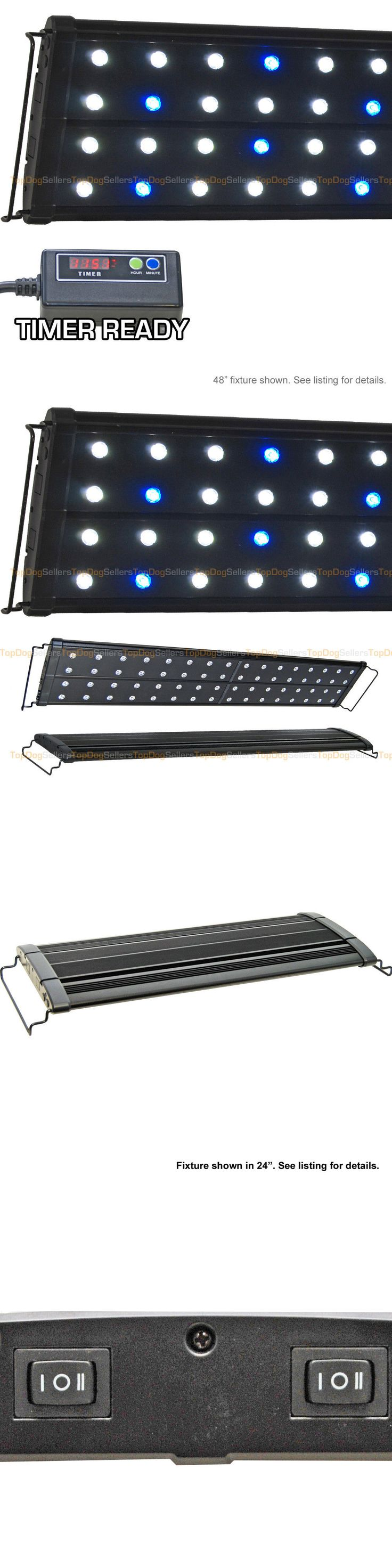 Lighting and Bulbs 46314: Evo Quad 48 Timer Led Aquarium Light Marine Coral Reef Cichlid 64X 3W 4 Ft New BUY IT NOW ONLY: $134.96