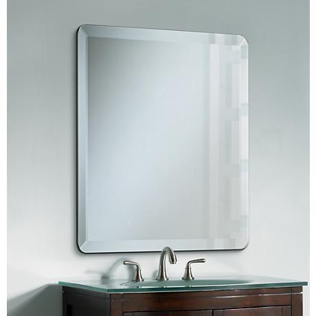 Best 25 beveled mirror ideas on pinterest bedroom - Frameless beveled bathroom mirrors ...