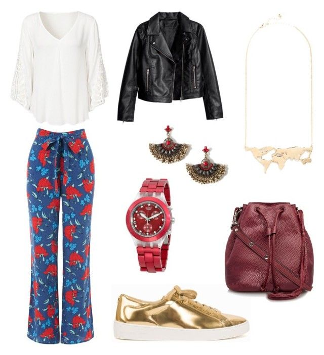 """Spring Time // OASIS Trousers"" by sara-silva27 ❤ liked on Polyvore featuring Oasis, MICHAEL Michael Kors, Rebecca Minkoff and Swatch"