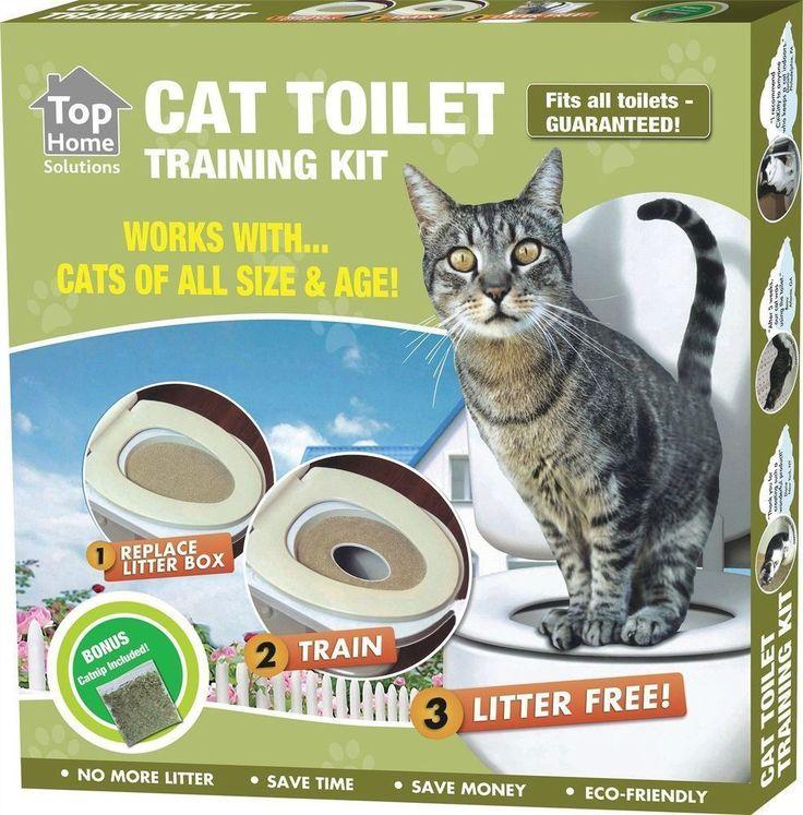 CAT TOILET TRAINING SEAT LITTER TRAY KIT POTTY TRAIN SYSTEM PET KITTY + CAT NIP #kittypottytraining